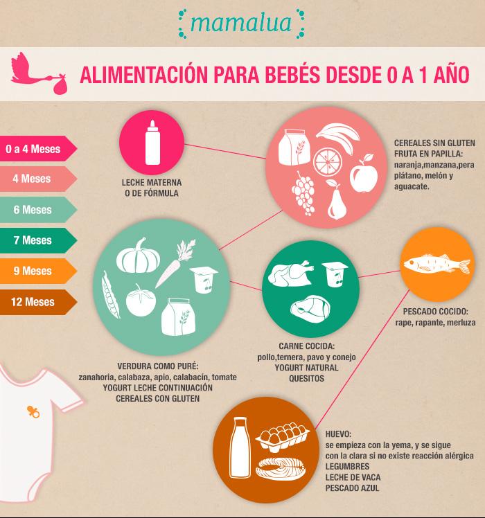 alimentación saludable para niños - 0 a 12 meses