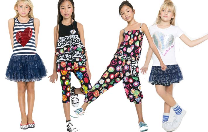 Rebajas de verano en ropa para niñas de Desigual