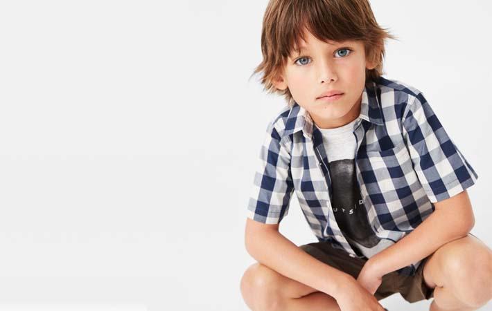 camisa de niño Mango Kids