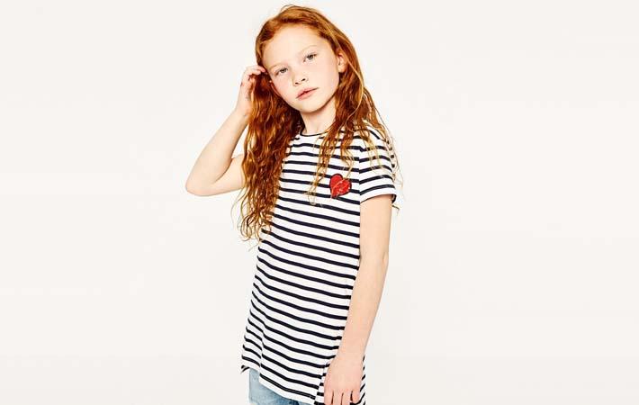 Camiseta Navy rebajas verano 2017 Zara Kids