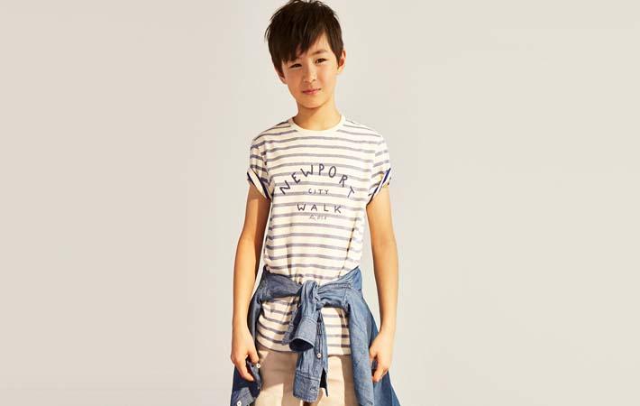 Camiseta para niños rebajas verano 2017 Massimo Dutti Kids