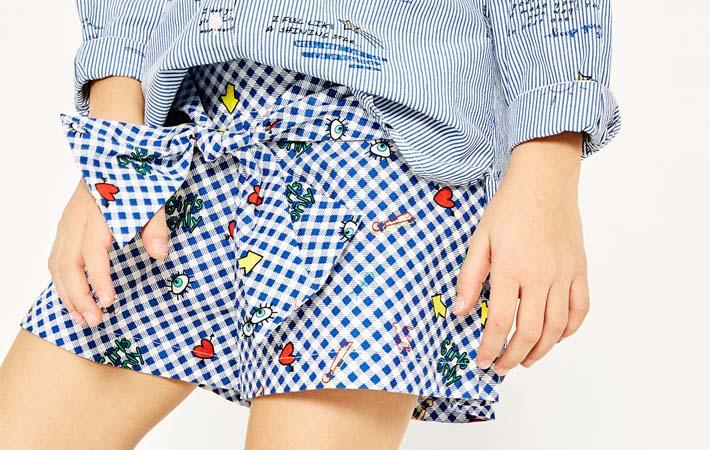 Shorts de verano en estapado Vichy