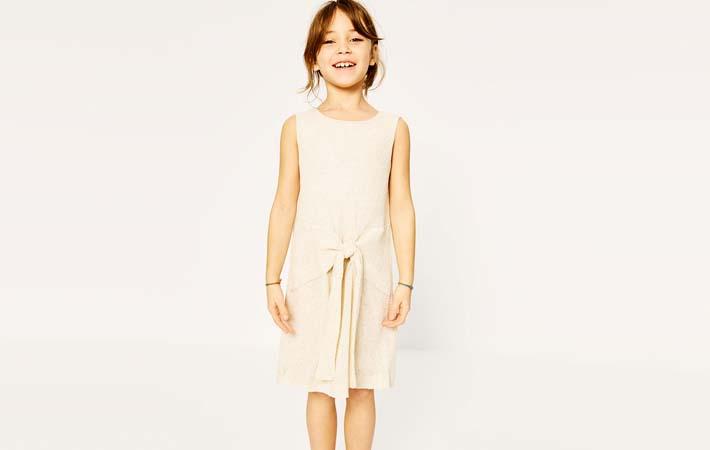 Vestido de verano con lazada de Zara Kids