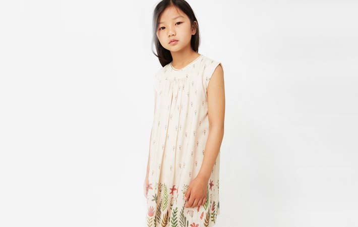 vestido estampado rebajas verano 2017 Mango Kids