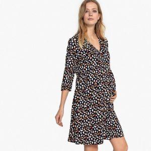 vestido estampado de leopardo