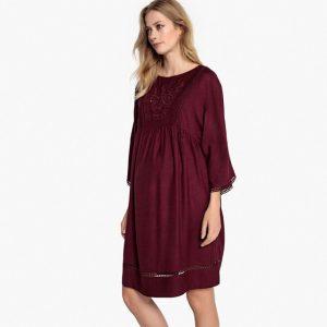 vestido premamá colo borgoña