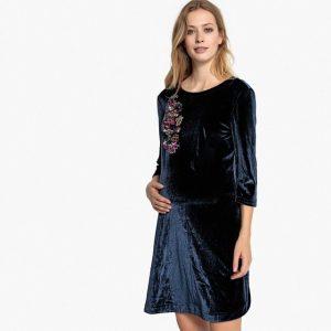 vestido de terciopelo de la redoute