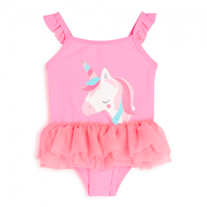 bañador de bebé rosa