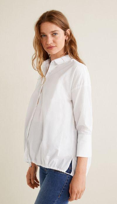 camisa blanca premamá