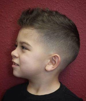 Cortes de cabello para nino con raya